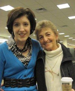 Me with my high school composition teacher, Gretchen Etzell